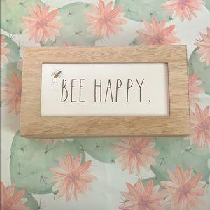 Rae Dunn Bee Happy sign